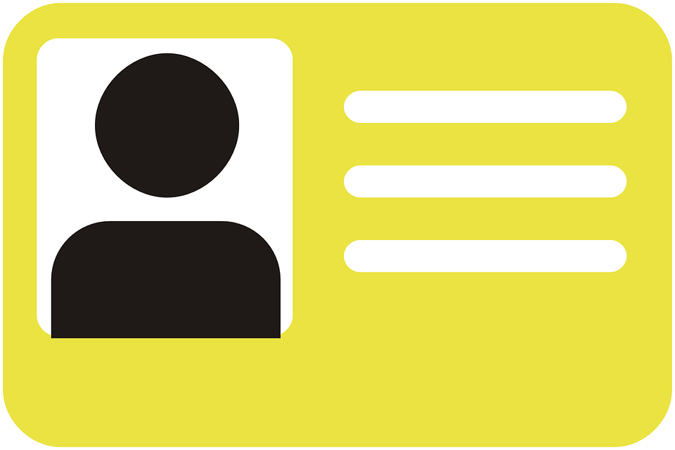 Un fond rectangulaire de couleur jaune. Sur la partie gauche de l'image, un cadre avec un fond blanc et la partie supérieure de l'illustration d'un bonhomme en noir. Sur la partie droite, 3 lignes horizontales blanches l'un au dessus de l'autre.