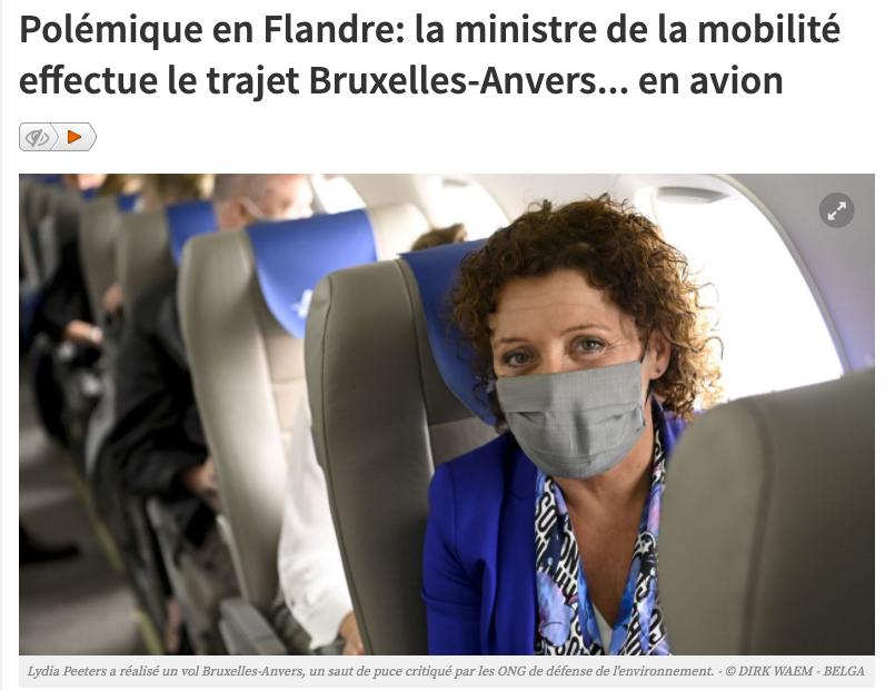 Question au Ministre Bellot sur le vol Bruxelles-Anvers du 9 juin dernier