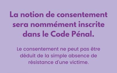 Réforme du Code pénal en matière de violences sexuelles : Une avancée importante pour les droits des femmes.
